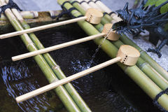 Japanese temizuya purification font Stock Photography
