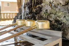 Purification trough in Shinto shrines and Buddhist temple, Japan Stock Images