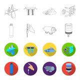 Purification, water, filter, filtration .Water filtration system set collection icons in outline,flat style vector. Symbol stock illustration Royalty Free Stock Images