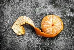 Purified dojrzała mandarynka zdjęcia stock