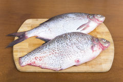 Purified fresh fish bream Royalty Free Stock Photos