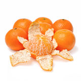 Purified mandarin peel fruits Royalty Free Stock Photos