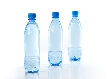 Purify drinking water. In a plastic bottle Royalty Free Stock Photography