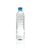 Purify drinking water in a clear bottle Royalty Free Stock Images
