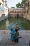 Purifying In the Nizamuddin Dargah, Delhi, India Stock Images