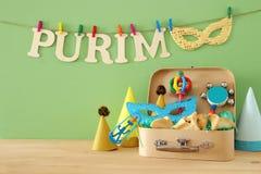Purim świętowania pojęcie & x28; żydowski karnawałowy holiday& x29; obrazy stock