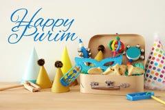 Purim świętowania pojęcie & x28; żydowski karnawałowy holiday& x29; zdjęcie stock