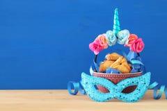 Purim świętowania pojęcie & x28; żydowski karnawałowy holiday& x29; zdjęcia royalty free