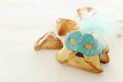 Purim świętowania pojęcie & x28; żydowski karnawałowy holiday& x29; Tradycyjny hamantaschen ciastka obraz stock