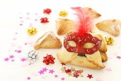 Purim świętowania pojęcie & x28; żydowski karnawałowy holiday& x29; Tradycyjny hamantaschen ciastka zdjęcia royalty free