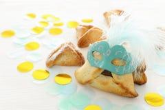Purim świętowania pojęcie & x28; żydowski karnawałowy holiday& x29; Tradycyjny hamantaschen ciastka zdjęcie royalty free