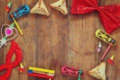 Purim świętowania pojęcie (żydowski karnawałowy wakacje) Selekcyjna ostrość zdjęcia stock