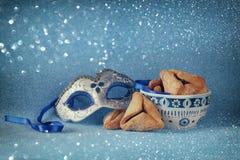 Purim świętowania pojęcie (żydowski karnawałowy wakacje) Selekcyjna ostrość zdjęcia royalty free