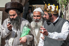 Purim στο τέταρτο της Mea Shearim στοκ εικόνες