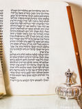 purim Книга эстера Есфири или Megillat в hebrew Стоковое фото RF
