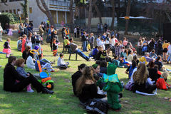 purim людей haifa торжества Стоковое Фото