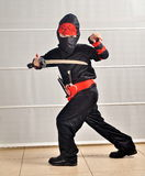 Purim (хеллоуин): Мальчик Ninja Стоковая Фотография RF