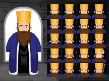 Purim Achashverosh kreskówki emocja Stawia czoło Wektorową ilustrację royalty ilustracja