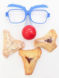 Purim arrangement with Hamentashen Stock Image