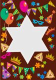 Purim background with davis star Stock Image