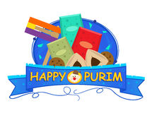 Purim Banner Royalty Free Stock Photos