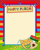 Purim Blank Sign Stock Photography