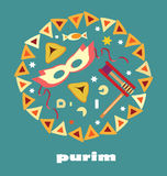 Purim blue background Royalty Free Stock Photos