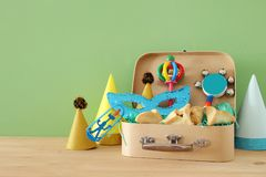 Purim celebration concept & x28;jewish carnival holiday& x29;. royalty free stock image