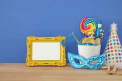 Purim celebration concept & x28;jewish carnival holiday& x29;. Royalty Free Stock Image
