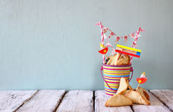 Purim celebration concept (jewish carnival holiday). selective focus Royalty Free Stock Images