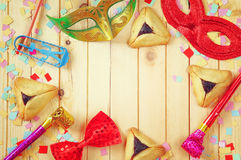 Purim celebration concept (jewish carnival holiday). selective focus Stock Photos