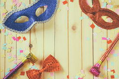 Purim celebration concept (jewish carnival holiday). selective focus Stock Photography