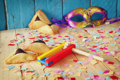 Purim celebration concept (jewish carnival holiday). selective focus Stock Photo