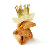 Purim celebration concept (jewish carnival holiday). selective focus. isolated on white Royalty Free Stock Images