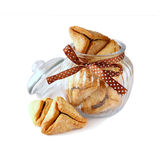 Purim celebration concept (jewish carnival holiday). selective focus. isolated on white Stock Photo