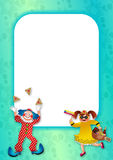 Purim Celebration Page Border Stock Photo
