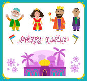 Purim Characters Royalty Free Stock Images