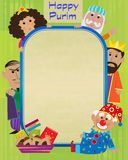 Purim Characters Sign Stock Image