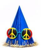Purim. Clown hat,  with colored glasses Royalty Free Stock Image