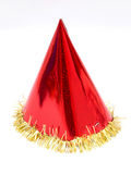 Purim. Clown's cap red on a white background Stock Photo