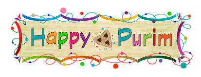 Purim Colorful Banner Stock Photography