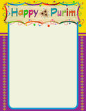 Purim Colorful Note Stock Photography