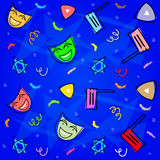 Purim Decorative Pattern Royalty Free Stock Images
