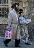 Purim em Mea Shearim Imagem de Stock Royalty Free