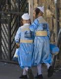 Purim en Mea Shearim Fotos de archivo libres de regalías