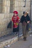 Purim en Mea Shearim Fotografía de archivo