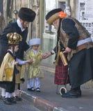 Purim en Mea Shearim Fotos de archivo