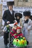 Purim en Mea Shearim Imagen de archivo