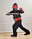 Purim (Halloween): Ninja chłopiec fotografia royalty free