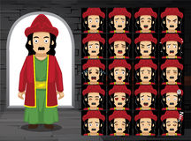 Purim Haman Cartoon Emotion Faces Vector Illustration. Cartoon Emoticons EPS10 File Format Stock Photo